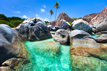 Beautiful tropical coast at Caribbean