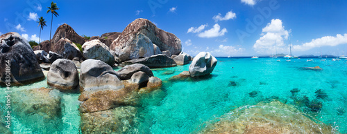 Beautiful tropical coast at Caribbean