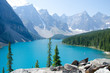 canvas print picture - Morain Lake Canada
