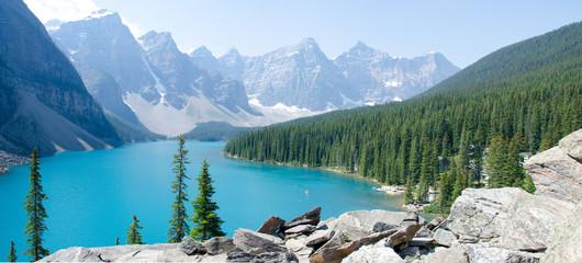 morain lake panorama
