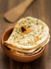 rustic indian naan bread
