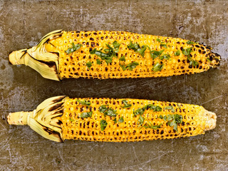 rustic roasted corncob