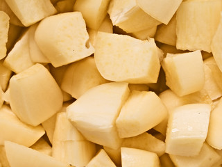 chopped uncooked raw garlic food background