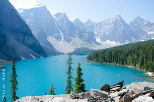 canvas print picture Morain Lake Canada
