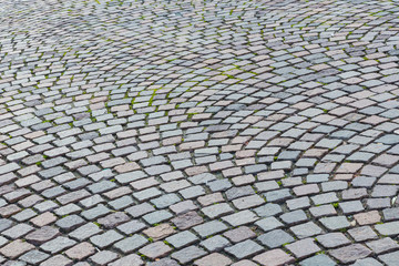 The pattern walkway made of stone as background