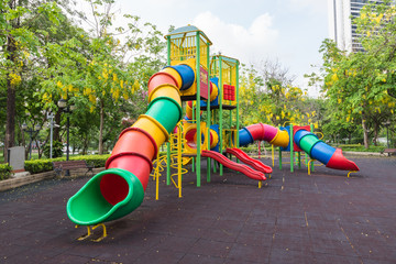The colorful plaything in Benjasiri Park, Bangkok, Thailand