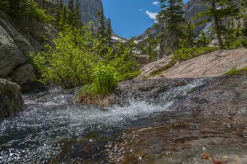 Creek leading to Hallett Peak and Flattop Mountain