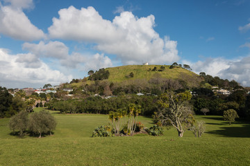 view of Mount Victoria in Devonport, New Zealand