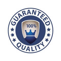 Quality guaranteed blue label