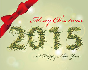 Merry Christmas and Happy Year card