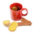 tea, ginger, cinnamon and lemon