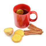 tea, ginger, cinnamon and lemon