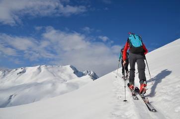 Skitour Aufstieg zum Gipfel