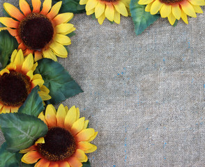 Sunflowers on fabric