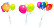 flying balloons isolated - 68307878
