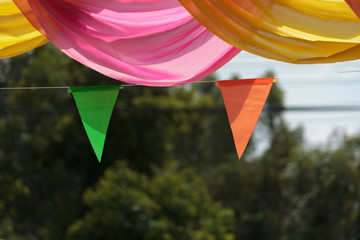 Ribbons for decorations in festival