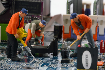 Computer wird repariert