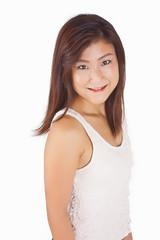 Beautiful Asian girl portrait isolation