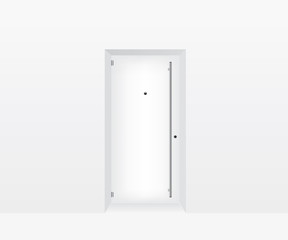 White door illustration
