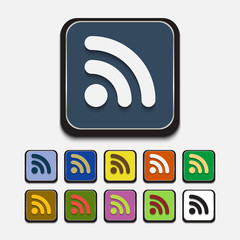 Stylish colored icons, wifi
