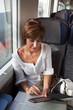 In treno con e-reader