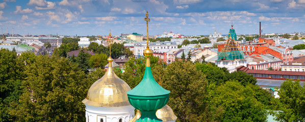 old district of Yaroslavl. Russia