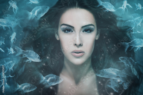 canvas print picture mermaid