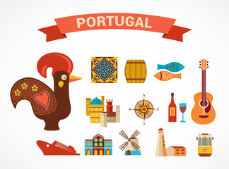 Portugal - set of vector icons