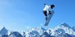 canvas print picture - Snowboarding sport