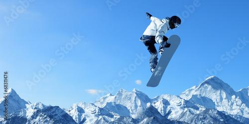 canvas print picture Snowboarding sport