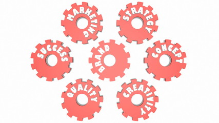 brand and relative tags on gears