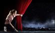 Leinwandbild Motiv Woman on stage