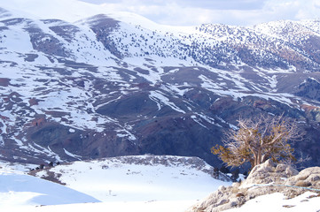 Landscape of Turkey at Winter season