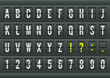 Airport arrival table alphabet with characters and numbers. - 68312876
