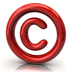Red copyright icon