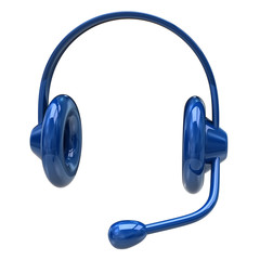Blue headphone icon