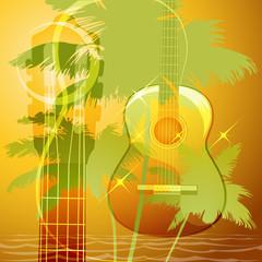 The guitar music