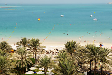 Beach of luxury hotel, Dubai, UAE