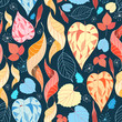 colorful autumn leaves pattern