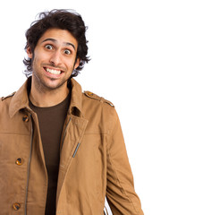 Hindu cool young man smiling gesture