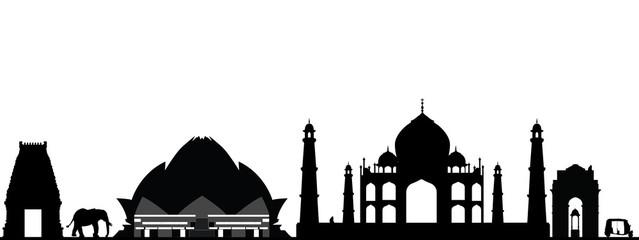 india new delhi skyline
