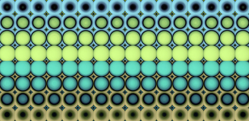 3d abstract tiled mosaic background in beige blue yellow