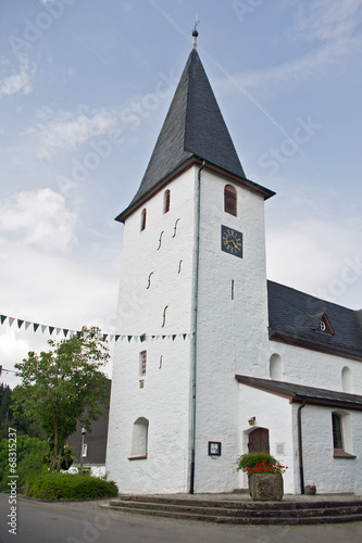 canvas print picture Kirche Lieberhausen-Bunte Kerke