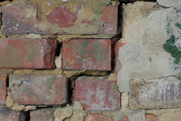 part of a solid brick wall