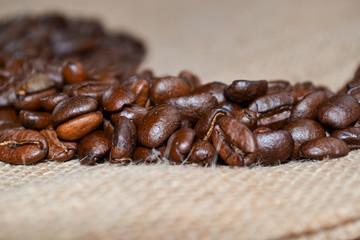 Kaffe auf Jute