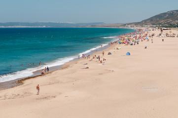 Playa de Cadiz en verano