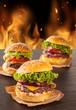 Delicious hamburgers