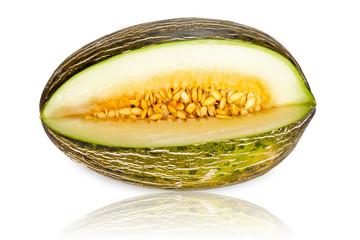 Reife Piel de Sapo Zuckermelone angeschnitten