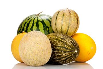Verschiedene reife Melonensorten