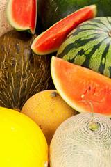 Hintergrund aus verschiedenen Melonensorten